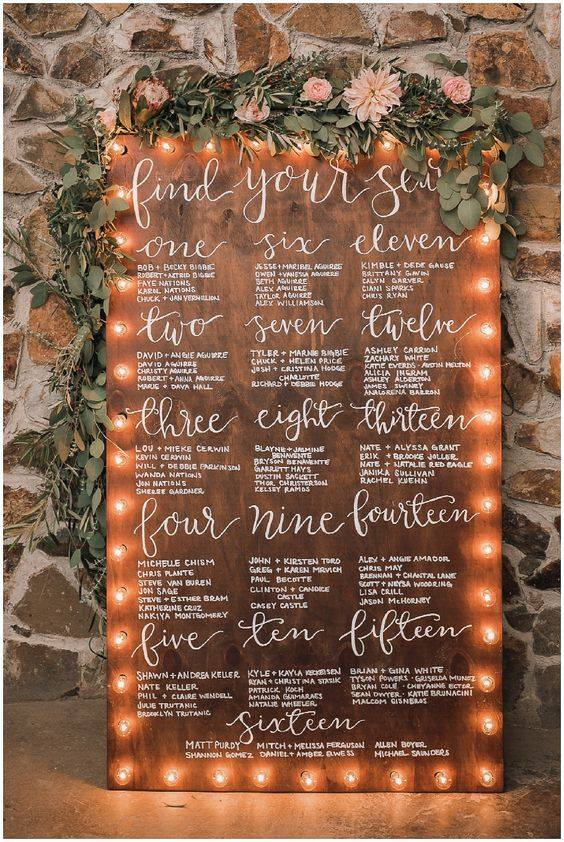 how to create a stress-free wedding seating chart